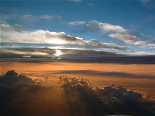 素晴らしい夕日を見たぞ!